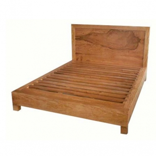 Solid mango king bed slim with 20cms edging and flush slats