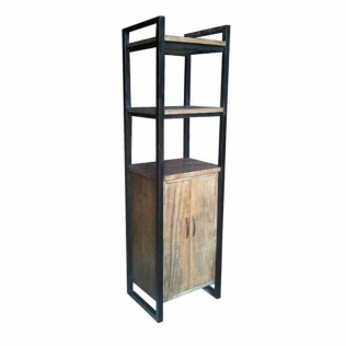 bookcase-2-doors-2-open-shelves-iron-frame-58x45x200-grey