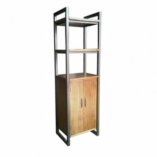 bookcase-2-doors-2-open-shelves-iron-frame-58x45x200