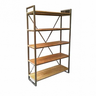 bookcase-5-shelves-iron-frame-120x40x190